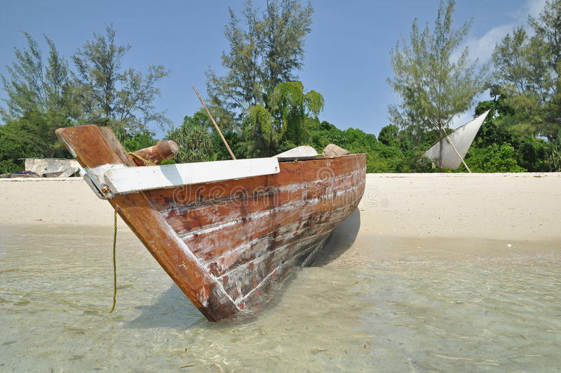 Vissersboot in Pemba royalty-vrije stock foto's