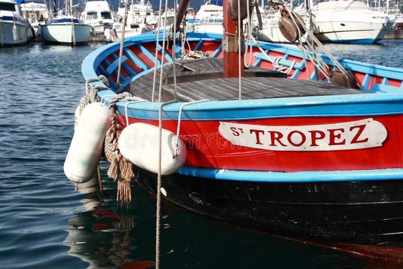 Vissersboot in St Tropez royalty-vrije stock afbeelding