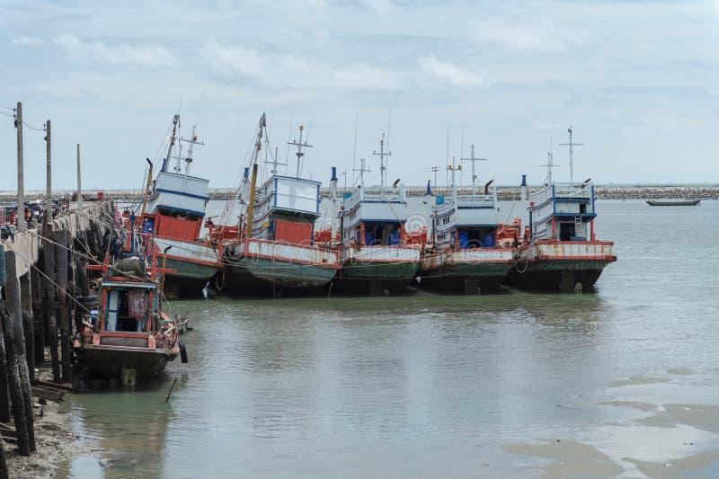 Vissersbootpost, rayong provincie stock foto