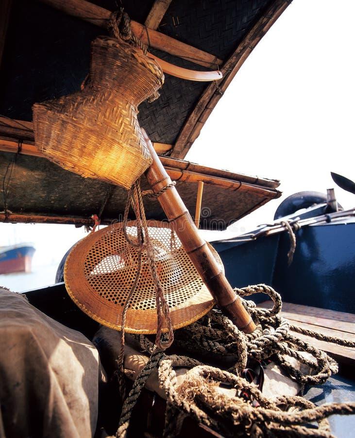 Vissersboten in het overzees royalty-vrije stock fotografie