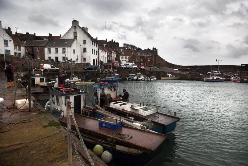 Vissersboten in Schotland stock afbeeldingen