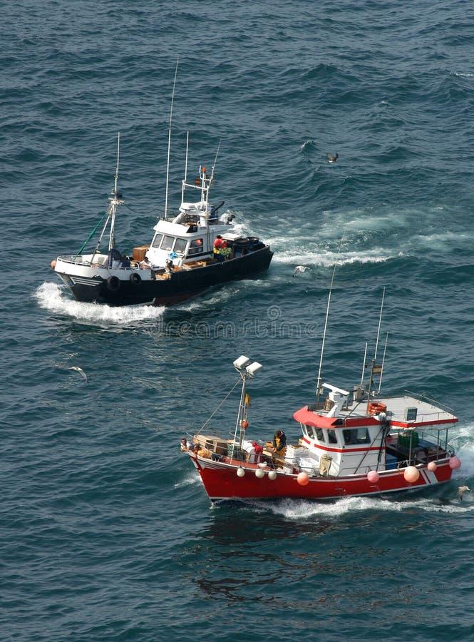 Vissersboten, Spanje stock foto's