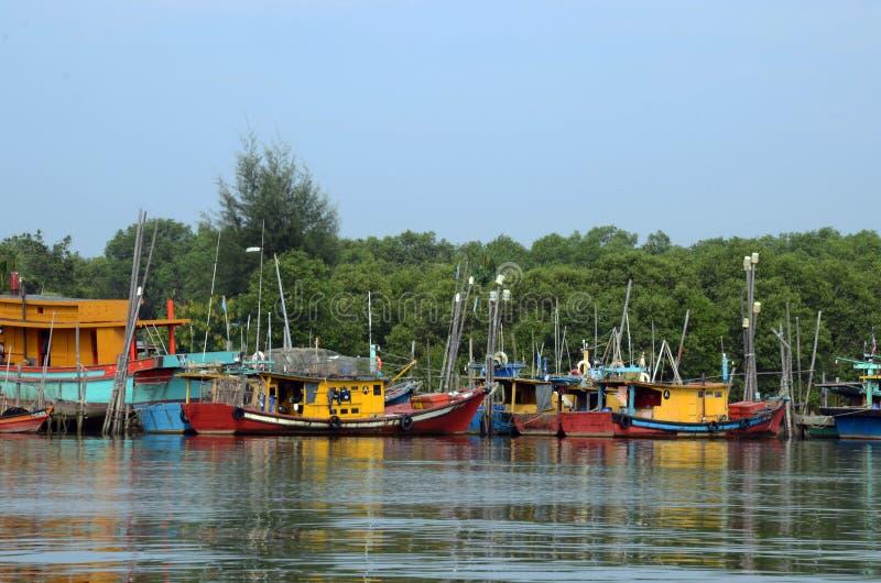 Vissersdorp, Kuantan, Maleisië stock afbeelding