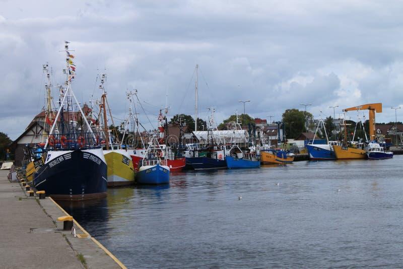 Vissershaven, Jastarnia, Oostzee, Hel, Polen royalty-vrije stock foto's