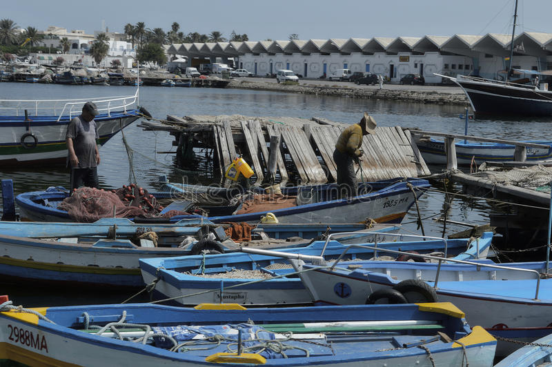 Vissershaven van Mahdia royalty-vrije stock fotografie