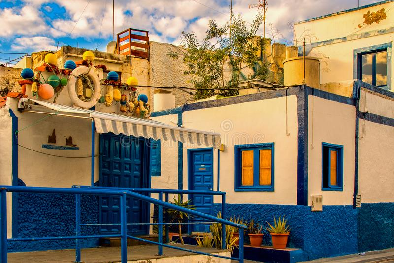Vissershuis in Agaete stock foto