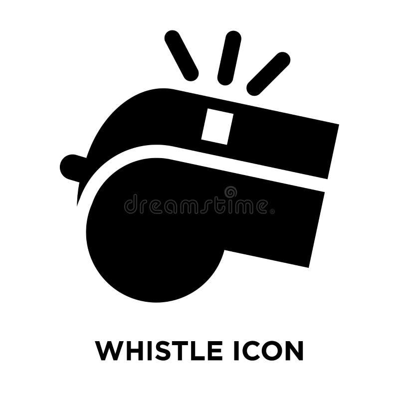 Vissla symbolsvektorn som isoleras på vit bakgrund, logobegreppsnolla royaltyfri illustrationer