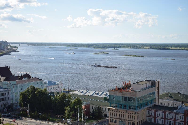 A vista à afluência de rivers2 fotos de stock