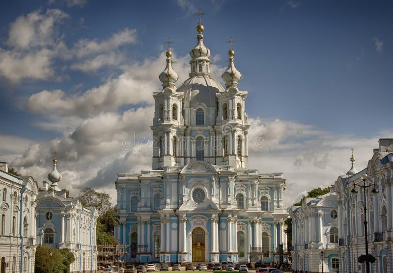 Catedral de Smolny fotos de stock royalty free