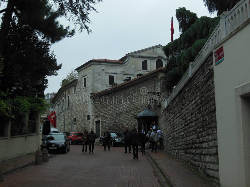 Vista à construção do patriarcado grego, exterior da igreja de StGeorge em Istambul foto de stock royalty free