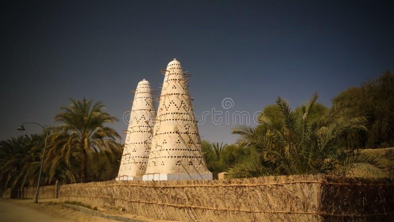 Vista à torre do pombo, oásis de Siwa, Egito imagens de stock royalty free
