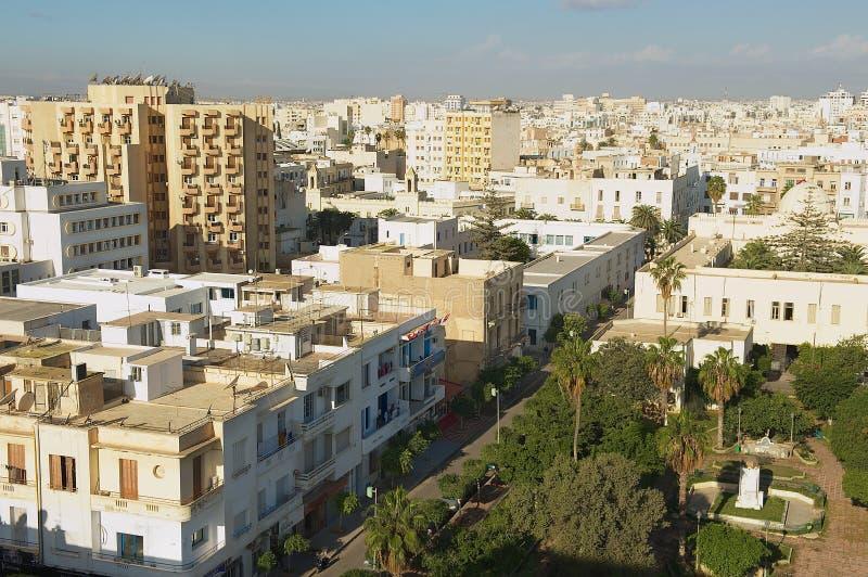 Vista às construções da área residencial de Sfax em Sfax, Tunísia imagens de stock royalty free