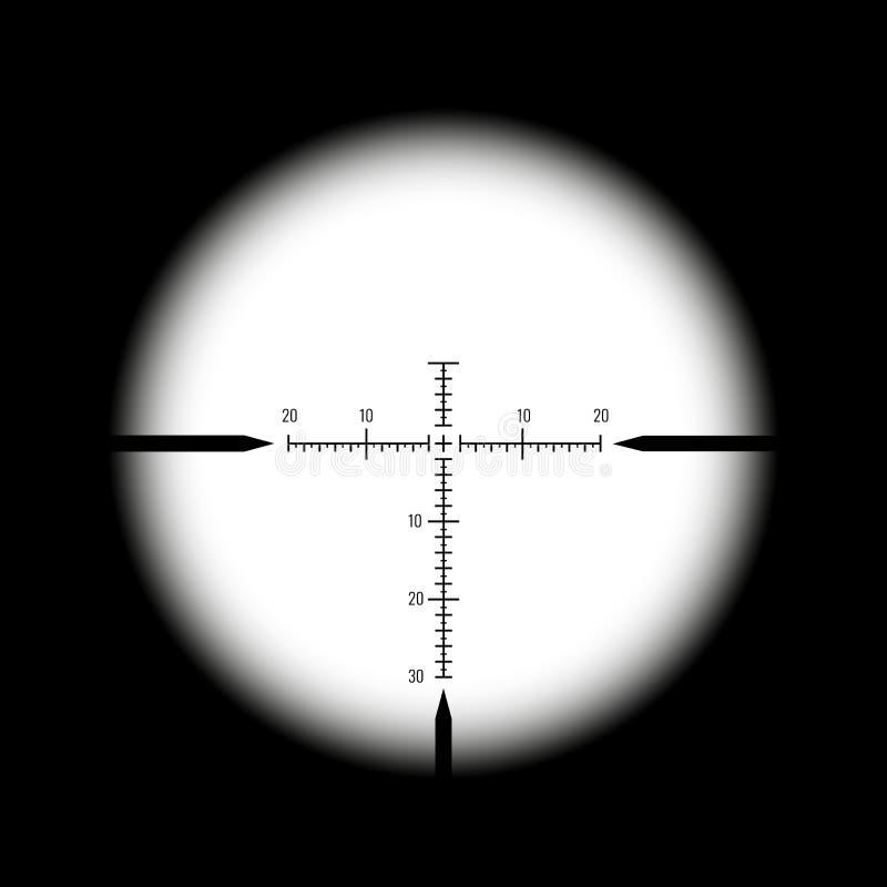 Vista ótica do rifle ilustração royalty free