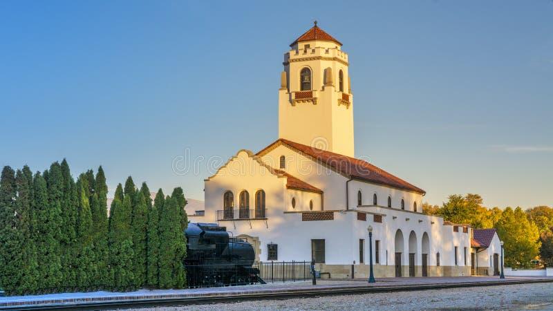 Vista única del depósito de tren en Boise Idaho imágenes de archivo libres de regalías