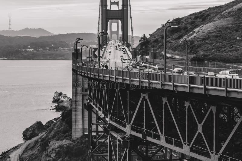 Vista βόρειου σημείου χρυσή γέφυρα πυλών στοκ φωτογραφία