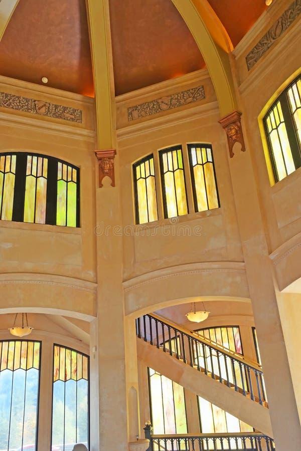 Vista εσωτερικό σπιτιών - σημείο κορωνών φαραγγιών της Κολούμπια στοκ φωτογραφία με δικαίωμα ελεύθερης χρήσης