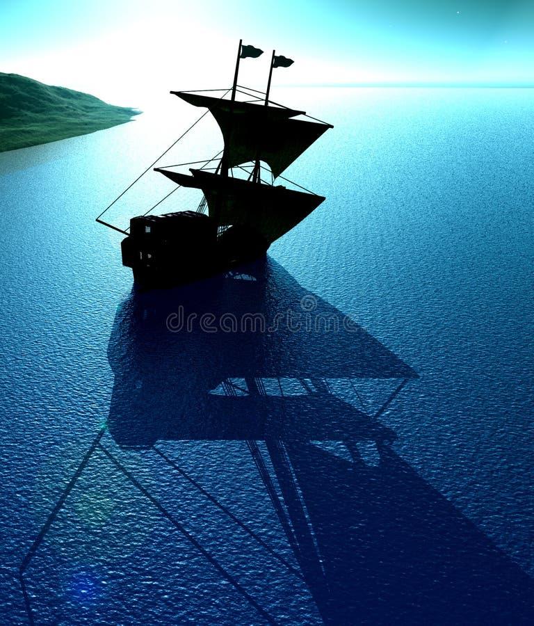 Vista 25 della nave royalty illustrazione gratis