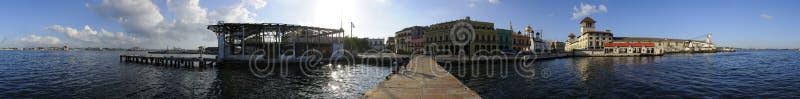 vista 360 panorâmico do porto de Havana. NOVEMBRO 2008 foto de stock royalty free