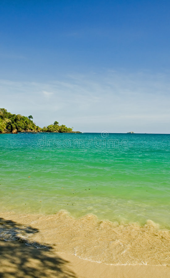 Vista 4 della spiaggia fotografie stock libere da diritti