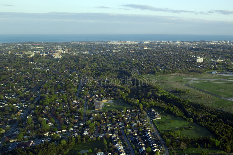 Vista aérea foto de stock