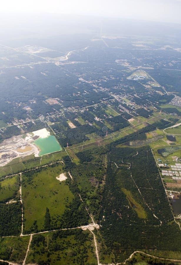 Vista aérea imagens de stock