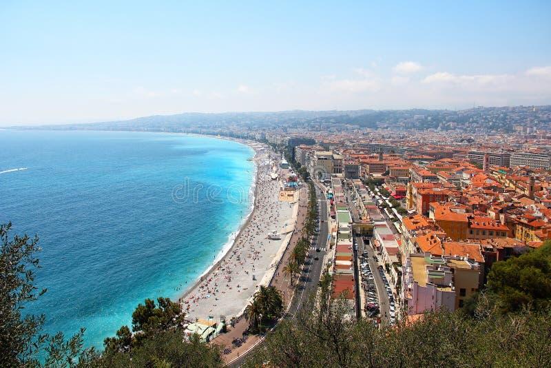 Vista aérea agradável, França imagens de stock