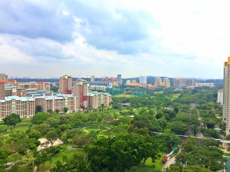 Vista aérea - Bishan, Singapura imagens de stock