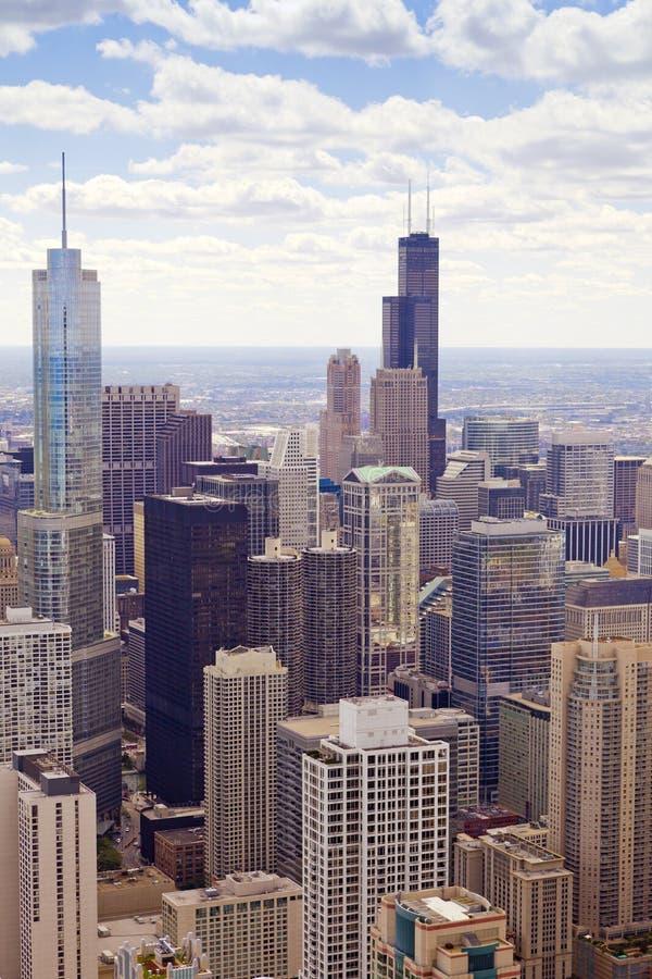 Vista aérea (Chicago da baixa) fotos de stock royalty free