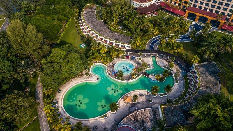 Vista aérea ciudad Malasia del 4 de abril de 2018 seremban foto de archivo