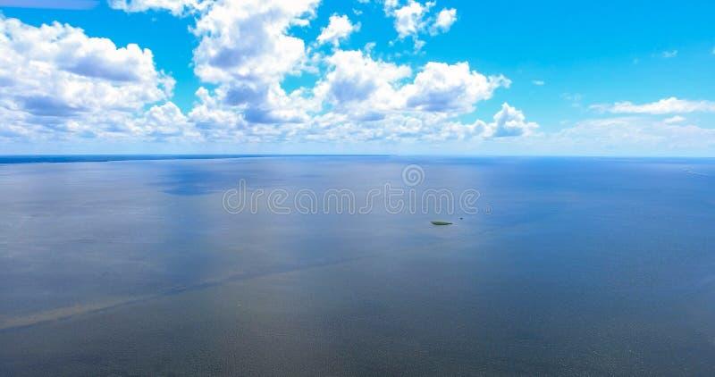 Vista aérea da baía móvel, Alabama fotografia de stock royalty free