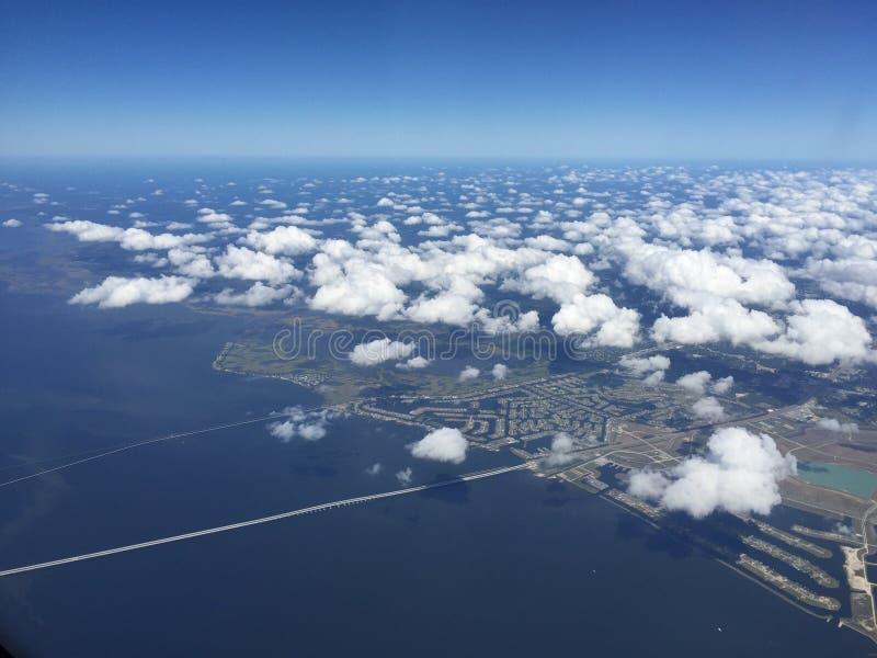 Vista aérea da bacia do rio Mississípi de Nova Orleães imagens de stock royalty free