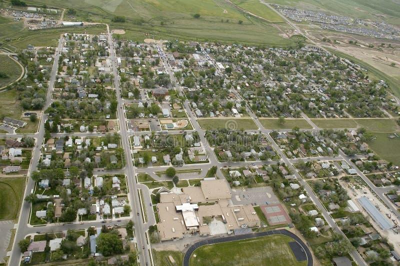 Vista aérea da cidade imagem de stock