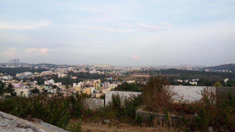 Vista aérea da cidade foto de stock royalty free