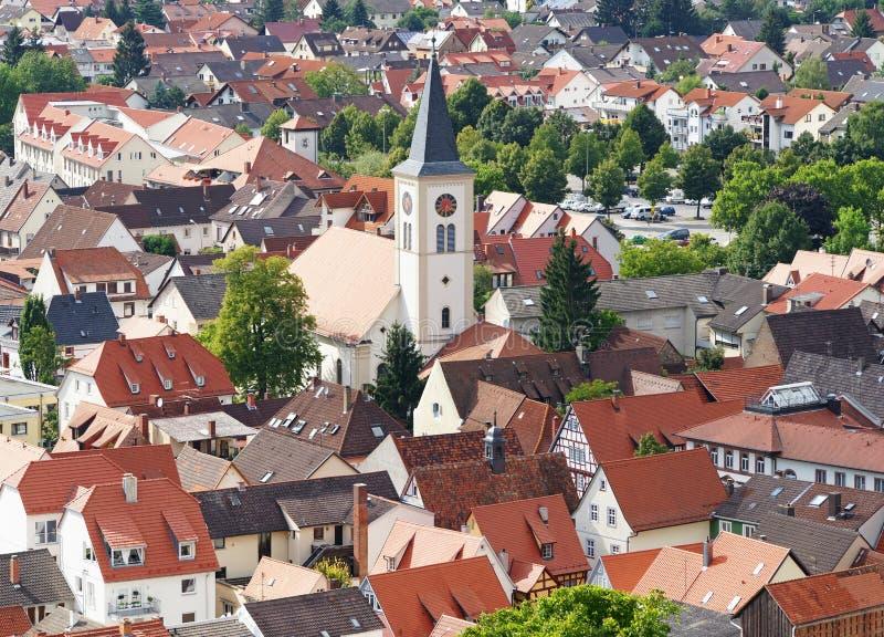Vista aérea da cidade alemão fotos de stock royalty free