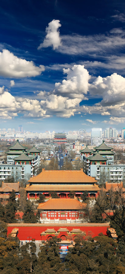 A vista aérea da cidade de Beijing imagem de stock royalty free