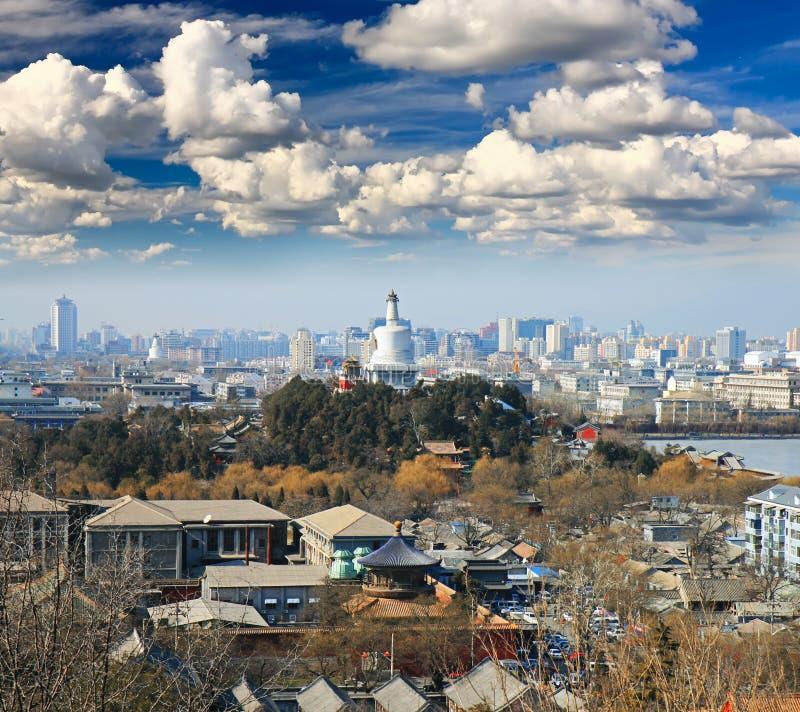 A vista aérea da cidade de Beijing foto de stock royalty free