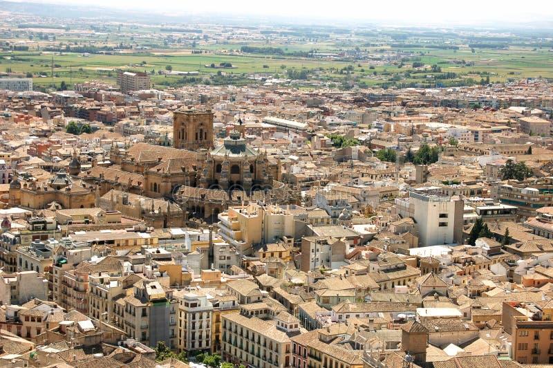 Vista aérea da cidade de Granada, Espanha foto de stock