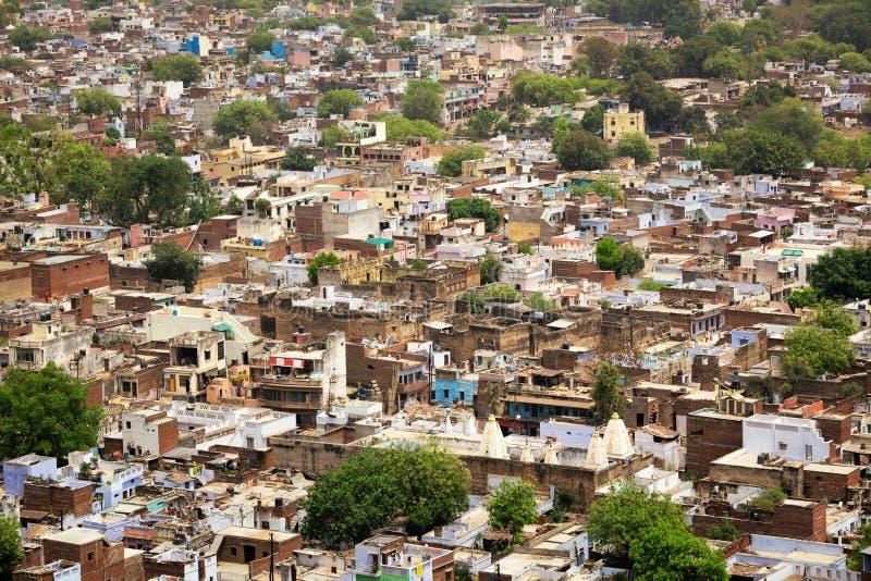 Vista aérea da cidade de Gwalior na Índia foto de stock