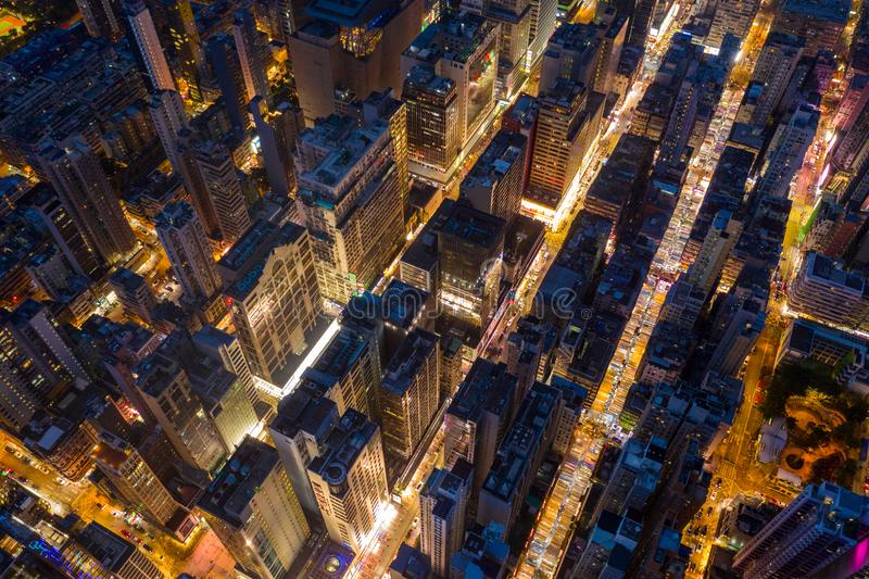 Vista aérea da cidade de Hong Kong fotografia de stock royalty free