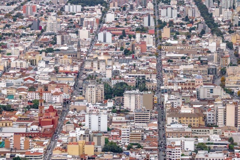 Vista aérea da cidade de Salta - Salta, Argentina imagens de stock royalty free