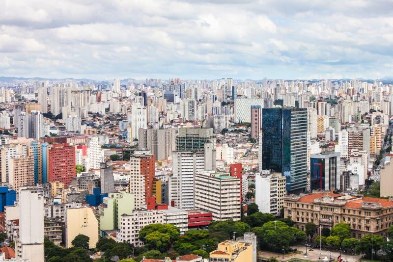 Vista aérea da cidade de Sao Paulo, Brasil, Ámérica do Sul foto de stock