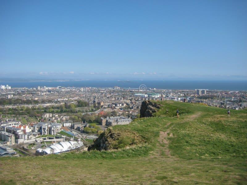 Vista aérea da cidade norte de Edimburgo imagens de stock royalty free