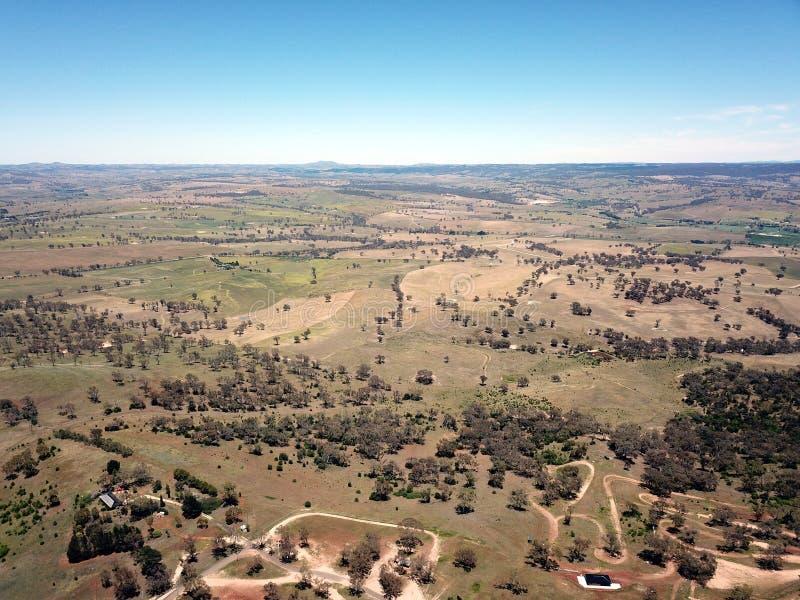 Vista aérea da cidade regional do país de Bathurst fotos de stock royalty free