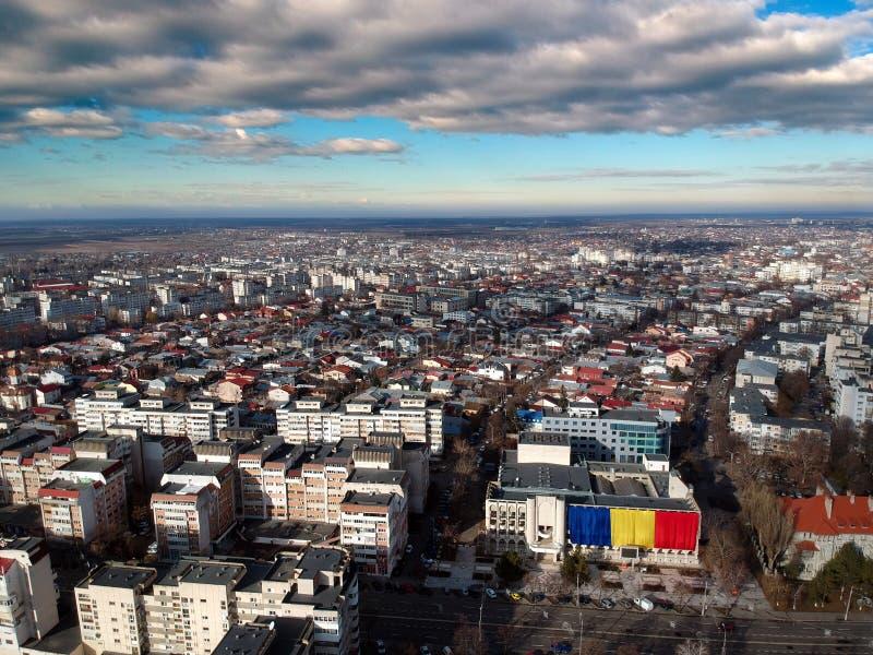Vista aérea da cidade Romênia de Braila imagens de stock