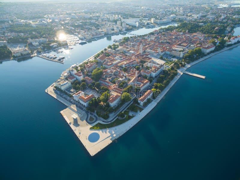 Vista aérea da cidade velha Zadar foto de stock royalty free