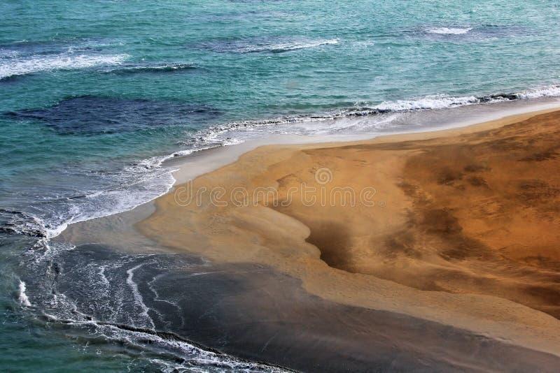 Vista aérea da costa na República Dominicana imagens de stock