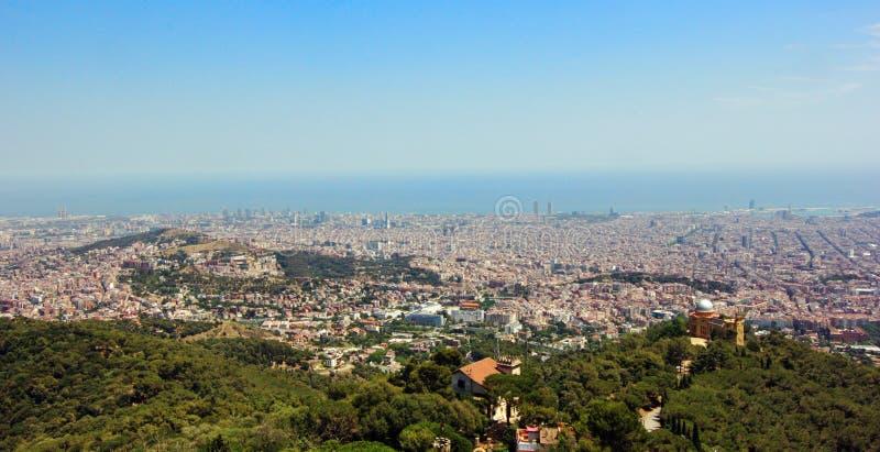 Vista aérea da Espanha de Barcelona fotos de stock