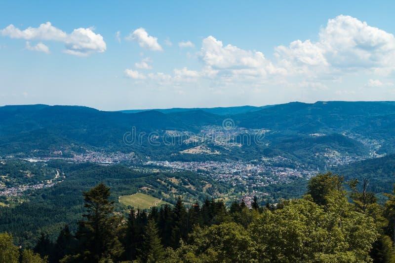 Vista aérea da Floresta Negra norte, Alemanha imagem de stock royalty free