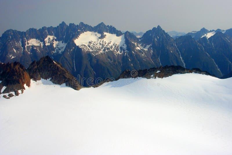 Vista aérea da geleira de Denver imagem de stock