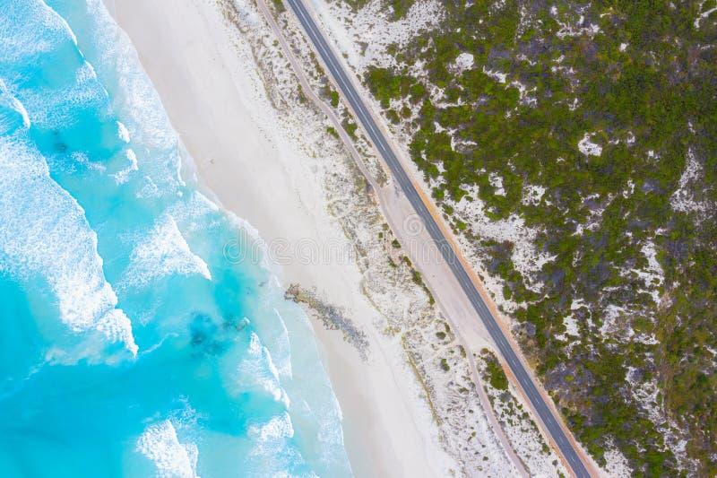 Vista aérea da grande estrada em Victoria, Austrália do oceano imagens de stock
